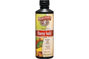 Barlean's Omega Swirl Omega-3 Fish Oil Supplement Mango Peach 16 Fl Oz