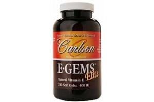 Carlson E-Gems Elite 400 IU 60 Softgels
