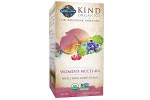 Garden of Life Kind Organics Women's Multi 40+ 120 Tabs