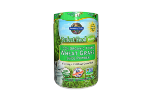 Garden of Life Perfect Food Raw 100% Organic Young Wheat Grass Juice Powder 120 Grams