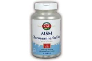Kal MSM w/ Glucosamine Sulfate 60 Tabs