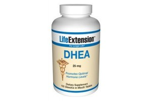Life Extension DHEA (dehydroepiandrosterone) 25mg 100 Tabs (to be dissolved in the mouth)