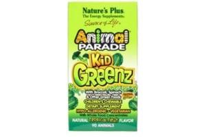 Nature's Plus Animal Parade Kid Greenz Tropical Fruit 90 Chews